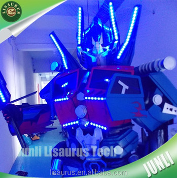 Lisaurus-L88 high Standard cosplay mascot costume led robot costume from China