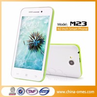 "Real Factory OEM M23 4"" 4 inch 4inch Dual Sim cards china cheapest 3g android smart phone"