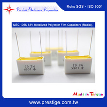 High Quality MEC 106K 63V BOX Type Long Life Metallized Polyester Film Capacitor