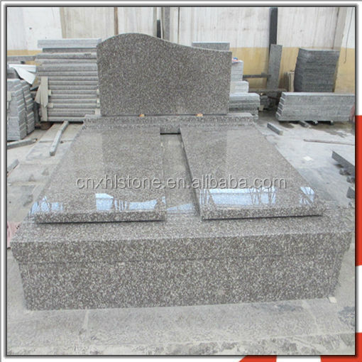 Cheapest Granite G664 French Style Double Tombstone