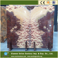 Bookmatch Dark Red Onyx Slab