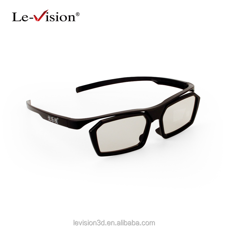 Le-Vision factory direct sale polarized 3D glasses for adult DLP 3D glass for 3D TV and 3D cinema Wholesale 3D glasses