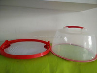 "14"" High quality plastic cake bin with inner plate"