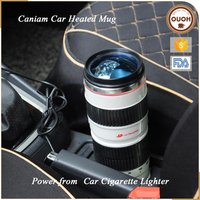 Novelty Items Camera Lens Bulk Coffee Electric Heat Travel Car Mug 12v