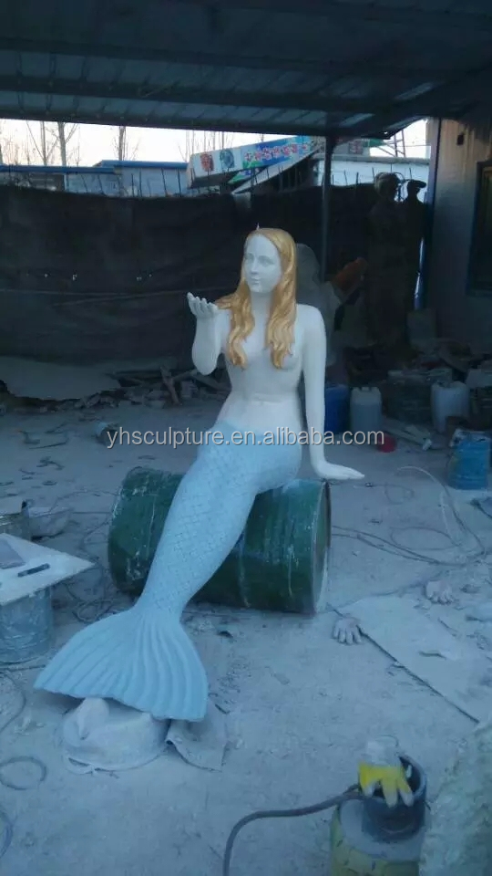 mermaid pool statues