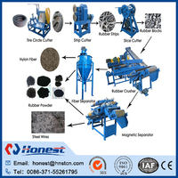 Used tire rubber granule making machine/double roller tire crushing equipment