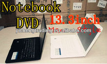 13.3 inch laptop with DVD support WiFi /3G/SD/bluetooth/camera Laptop