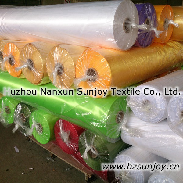 China Supplier Polyester Satin Fabric