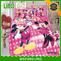 kids cartoon bedding set/cartoon crib bedding/wholesale cartoon character bedding