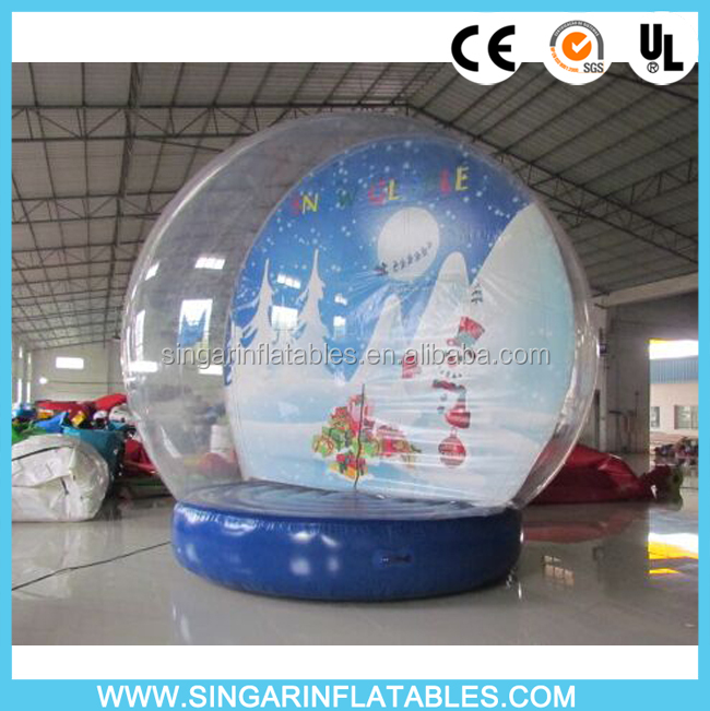 5m Diameter Giant Christmas Inflatable Snow Globe,Inflatable Snow Dome For Christmas