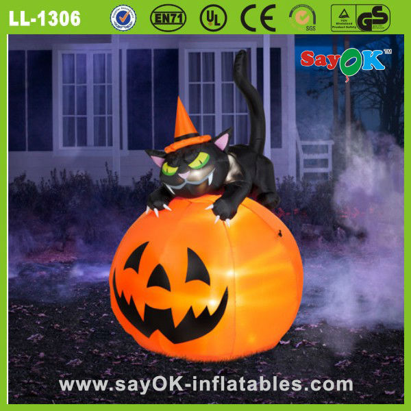 inflatable halloween skull decoration ghost with halloween coffins props for sale