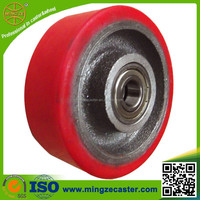 High quality heavy duty small pu wheel for hand cart