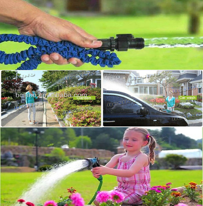 Full set Aluminum fittings silicone garden hose 7.5meter,15m,23m,30m