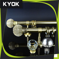 KYOK new designs double curtain rods factory & curtain rod accessories wholesale ,curtain wall accessories