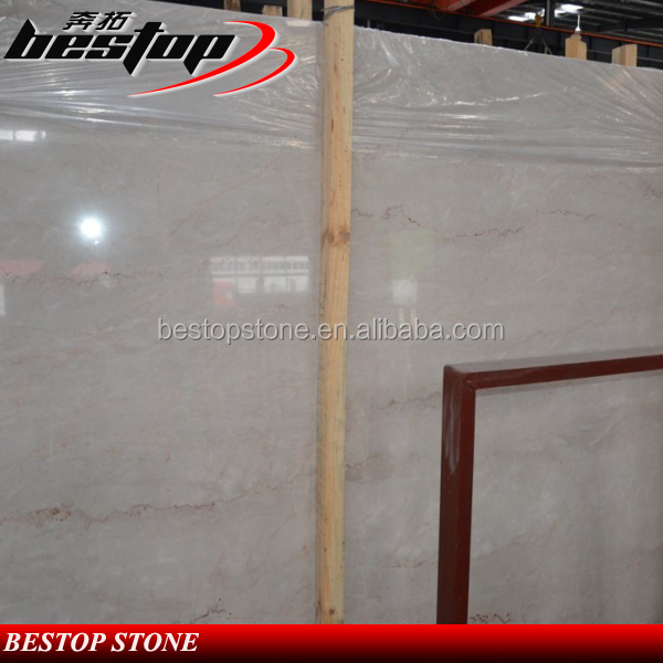 China Quarry Polished Marble Stone Slab Beige Color