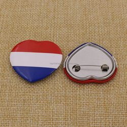 Promotion Printing France Lapel Pin with Safety Pin