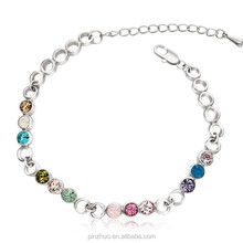 New Products Cheap Customed Bracelet,White Gold Plated Design for Women