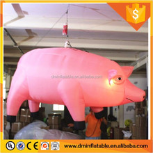Best price best quality advertising inflatable cartoon figure hanging pig