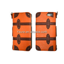 New arrival stylish splicing pu case double color mixed slip wallet leather case for iphone 5
