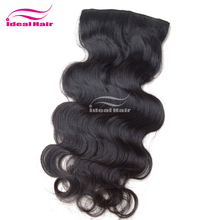 Ideal hight quality factory cheap price brazilian full head clip in hair extensions free sample