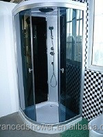 bathroom prefab free standing glass shower enclosure sliding doors quadrant design with mixer for mordern home design