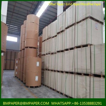 Used for notebook uncoated Woodfree offset Printing paper rolls