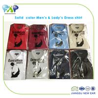 Men's & Lady's uniform dress shirt ,T/C, solid color,opp bag packing---factory