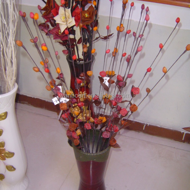 pure natural material handmade dried flower bouquets / artificial flower with wood stick