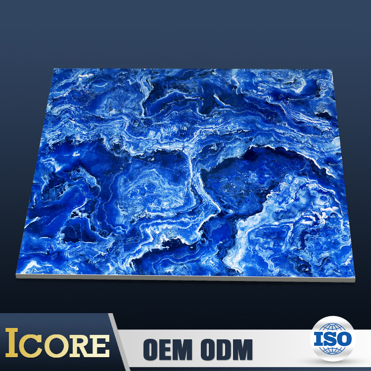 Alibaba Online Shopping Marble Look Polished Mixed Blue Color Tiles