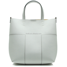 CSYH314-001 white and yellow double face saffiano leather bag women tote bag china wholesale