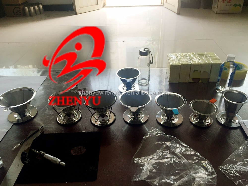 "Stainless Steel 304Pour Over Cone Dripper, Reusable Coffee strainer for Osaka, Chemex, Hario, Carafes and More ""To-ji"""