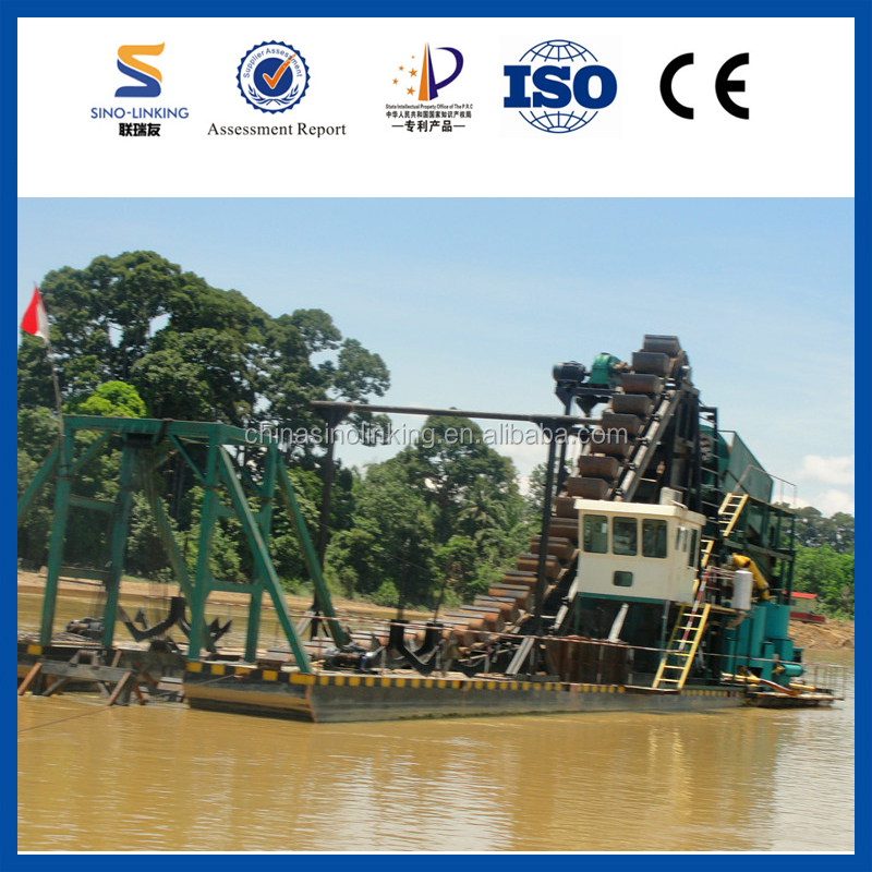 SINOLINKING Gravity Used Dredge for Sale with Gold Recovery Washing Trommel Plant