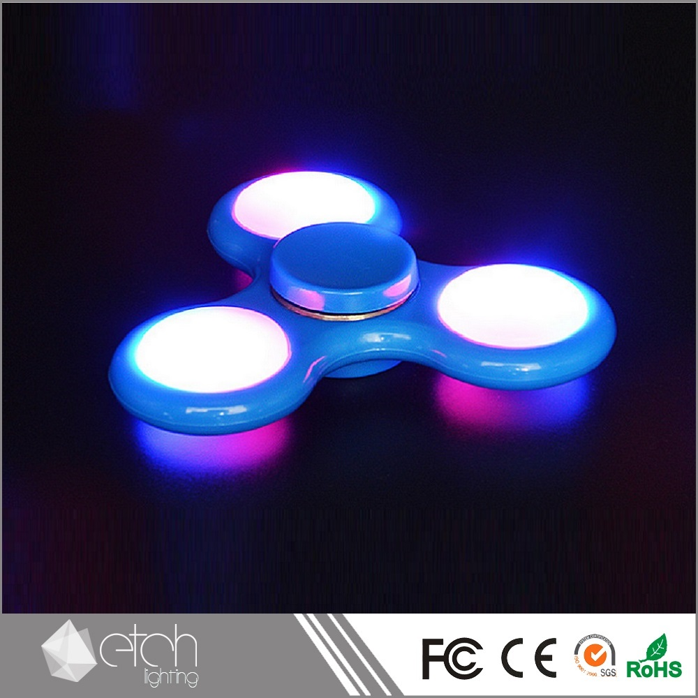 Three leaves flashed LED light Fidget Spinner Decompression toys Hand Spinner