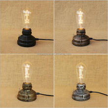 Retro Factory Iron Metal Base Table Lamp E27 with Edison Lighting Source