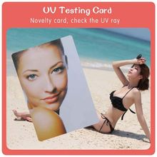 hot selling color change temperature and UV test ft card