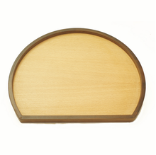 Half Moon Shape Design Wooden Tea Tray Wooden Snacks Tray