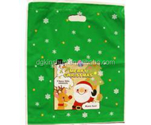 printing Santa Claus handle gift bag for christmas