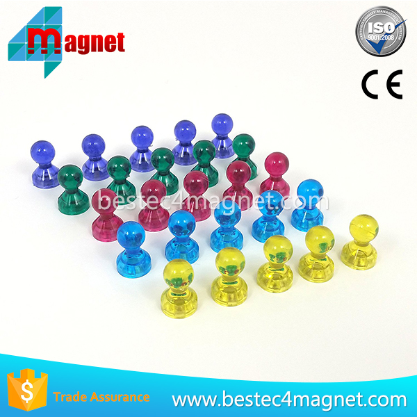 Set of 25 Strong Magnetic Push Pins - 5 High Contrast Colors - Monkey Strong - For Home & Office