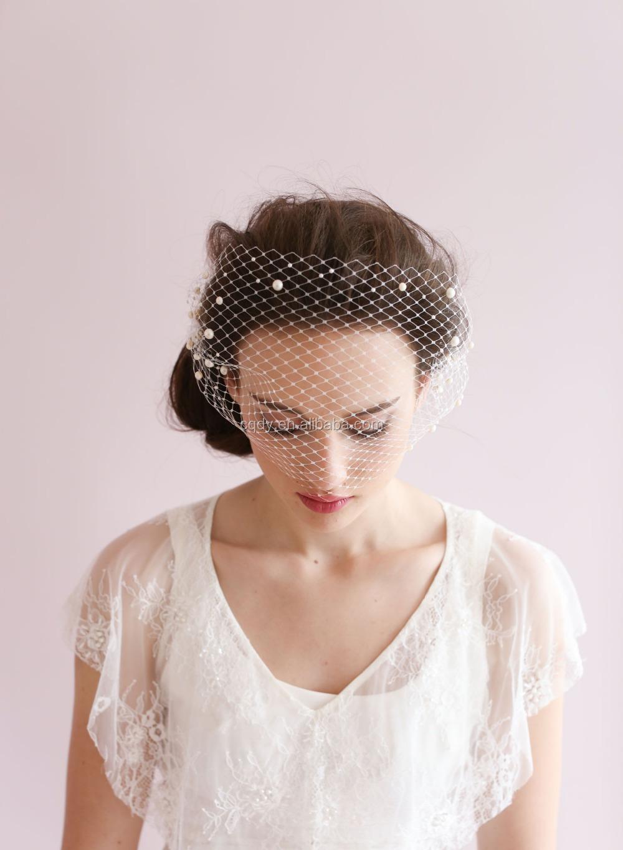 Fashion Decorative Classic Design Birdcage Hat Veil One Layer Net