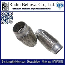 RUDIN ISO standard car auto muffler, stainless steel exhaust flexible pipe