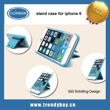 G-CASE stand pu protective case for iphone 6 with 360 rotating function