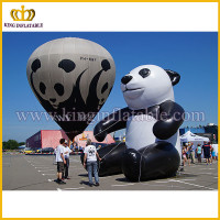 Inflatable panda model, giant inflatable panda replica, advertising inflatable panda