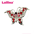 Alloy Rhinestone Beautiful Animal Butterfly Brooch For men and Women Decoration
