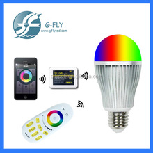 2014 best selling WiFi LED bulb 2.4G Bulb led Touch Screen Remote Control RGBW LED Bulb
