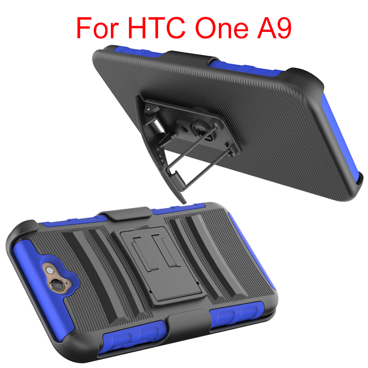 For HTC A9 Hybrid Holster Case,Dual Layer Armor Case With Kickstand Belt Clip Holster Case