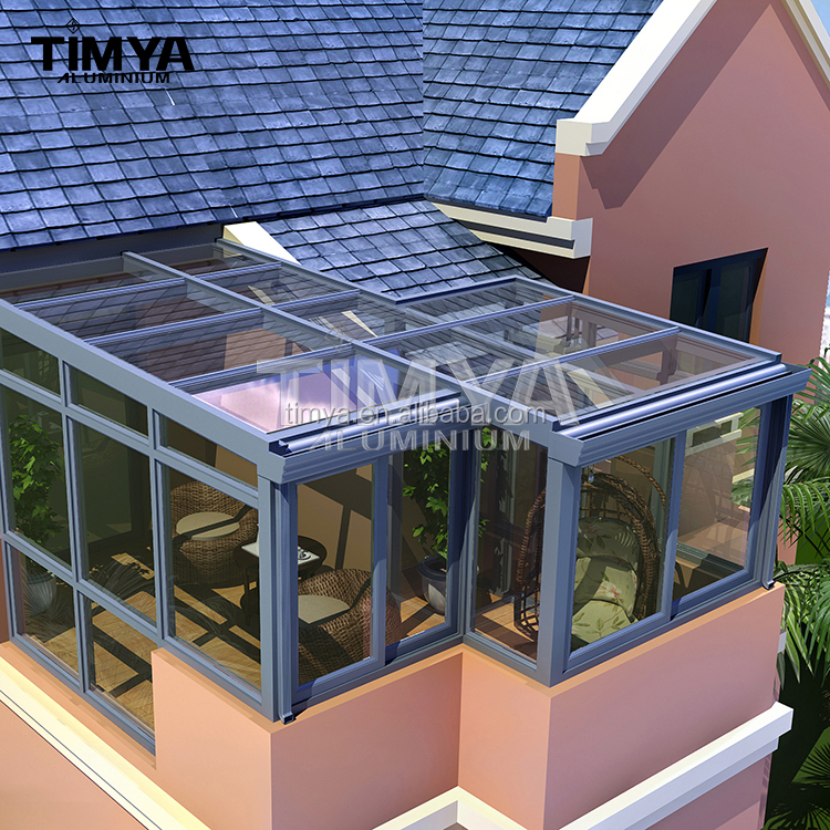 Latest design commercial winter garden house/aluminum portable sunrooms