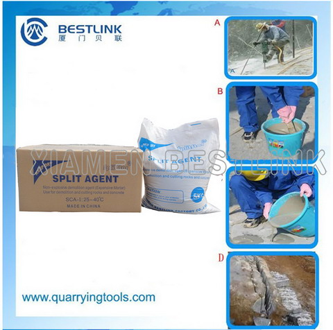 No Flying Debirs Demolition Agent,safe operation demolition agents,demolition agents for granite quarry