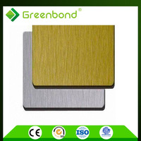 Greenbond brushed design aluminium composite panel acp design cladding price
