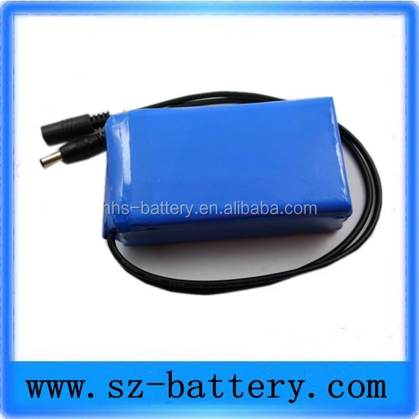For consumer aaa 7.2v rechargeable battery pack 6600mah with adapter connector