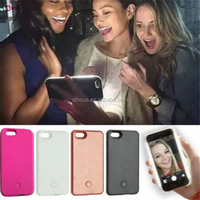 Fill LED Light Up Luminous Camera Selfie Light Phone Case Back Cover For iPhone 5 5S SE 6 6S 4.7'' Plus 5.5'' Inch